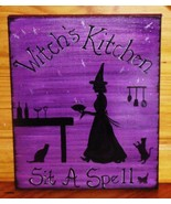 Witch&#39;s Kitchen Witches Witchcraft Custom Signs Plaques Wiccan Decor Cats Baking