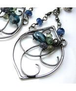 Moss Kyanite and Sapphire Earrings - $125.00