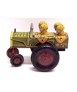 Louis Marx Jumpin Jeep Tin Litho Wind-up Toy Vi... - $294.97