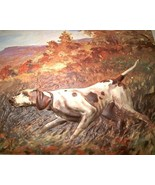 70's vinyl 3D HUNTING BIRD DOG Calendar Art PRI... - $18.50