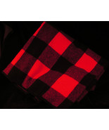 Marlboro Wool Blanket Plaid Red Black Country Throw Camp Lodge - $12.50