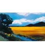 Golden Field by Ann Christensen Landscape Art P... - $38.00