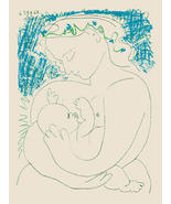 Motherhood by Pablo Picasso Abstract Canvas Print - $128.00