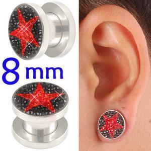 crystal tunnels 8mm ear stretcher kit piercing lot BBDP