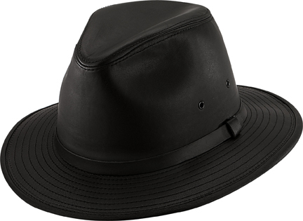 Henschel Hats 1255 Garment Leather Safari Fedora Satin Lined Made In USA