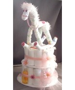 Pink HORSE Baby Shower Gift Girl Diaper Cake Ce... - $48.00