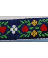 Embroidered Ribbon Trim Vintage 70s - $3.00