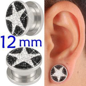 crystal tunnel 12mm ear stretcher kit piercing lot BBDY