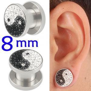 crystal tunnels 8mm ear stretcher kit piercing lot BBDZ