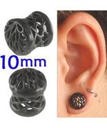 Black Alloy ear tunnel 00g gauge stretcher kit ... - $15.20