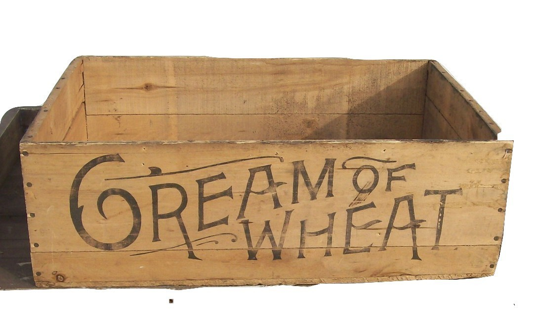 Cream of Wheat Wood Crate c.1930-1940 Advertising and Shipping Home Decor
