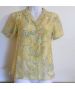 Tommy Bahama 100% Silk Hawaiian Blouse Size XS - $25.95