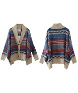 Colorful Strip Women Cardigan Sweater - $87.00