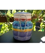 MULTI-COLORED CERAMIC KITCHEN CANISTER with GAS... - $4.99