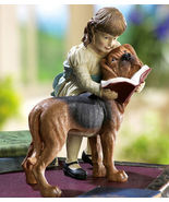 Girl W/ Dog Decorative Garden Statue - $19.95