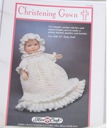 Fibre Craft  Christening  Gown  Crochet Pattern - $4.95