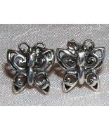 Sterling Silver Butterfly Stud Earrings - $9.50