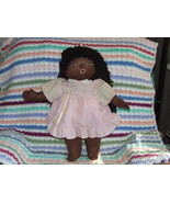 HandCrafted Black American Doll wearing Pink Dr... - $14.99