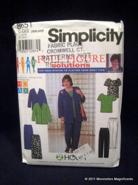 Vintage 8651 Simplicity Womens Knit Jacket Top Pants Skirt  Sewing Pattern 26 32