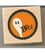Halloween Stamp BOO by Janet Dunn Studio G  Bra... - $1.99