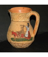 Vintage Pitcher Cork Covering Hand Crafted Desi... - $12.00