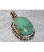 Turquoise and Sterling Silver Oval Pendant - $28.00