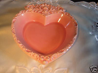Heart Shaped Dish Lovely Pink Color