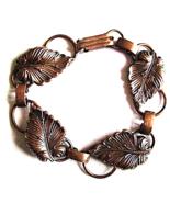 Vintage Arts and Crafts  Copper Bracelet Hand W... - $19.00