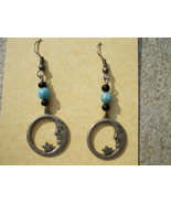 Moon and Stars Faux turquoise earrings - $7.99
