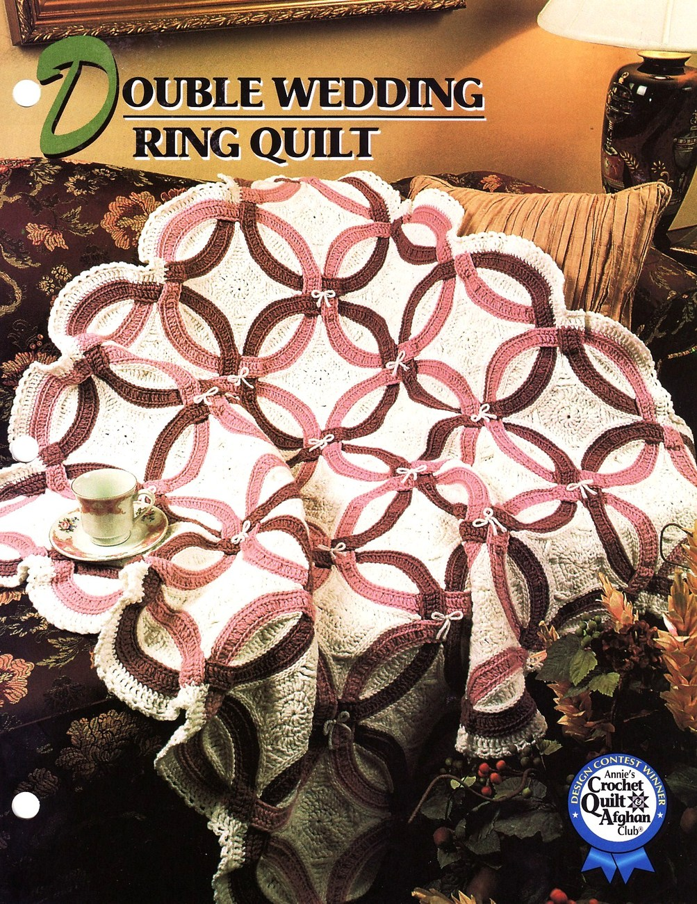 Crochet Afghan Patterns Quilt : Double Wedding Ring Quilt Afghan Crochet Pattern Annies ...