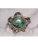 Matrix Turquoise and Sterling Silver Ring size 7 - $24.00