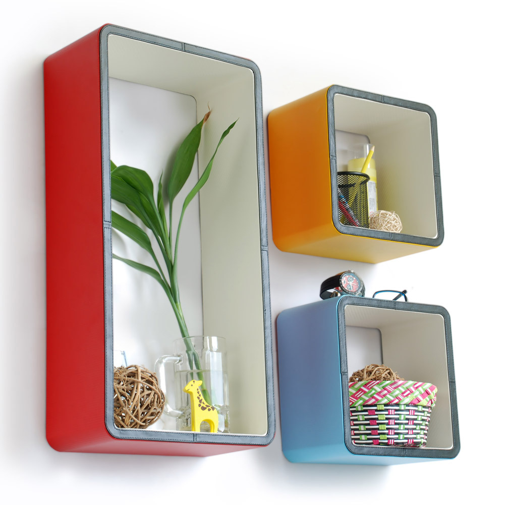 Vitality Toughness  Rectangle Leather Wall Shelf