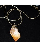 Citrine Crystal Nugget Necklace - $12.95