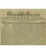 1800 Issue GREENFIELD GAZETTE  The Death of GEO... - $75.00