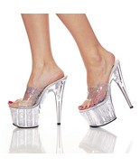 Pleaser Womens SZ 10 Stiletto Shoes Hologram Dr... - $37.00