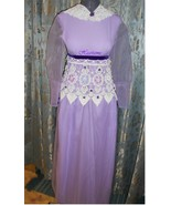 Vintage 70s dress gown gone Regency Victorian f... - $50.00