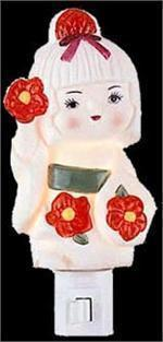 Girl  Electric Oil or Tart Warmer  Aroma Night Light Flowers