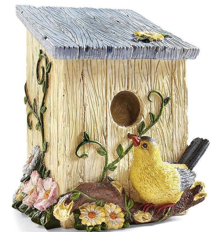 Country Birdhouse Shaped Decorative Trash Bin