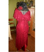 Flowy 30's style dress ensemble with cloche hat... - $20.00