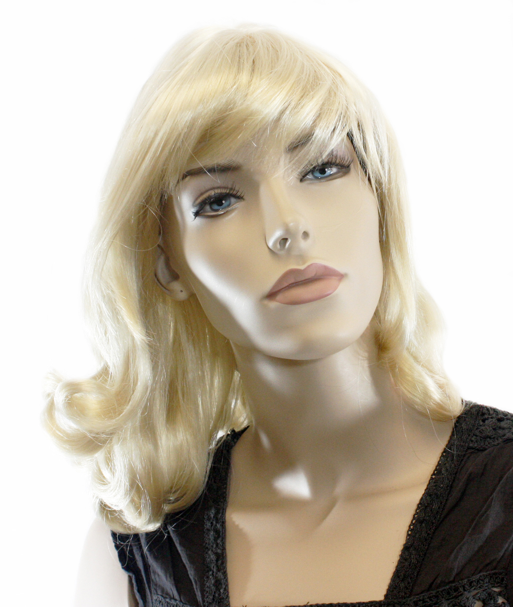 "18"" Curly Pale Blonde Wig (lb755613a)"