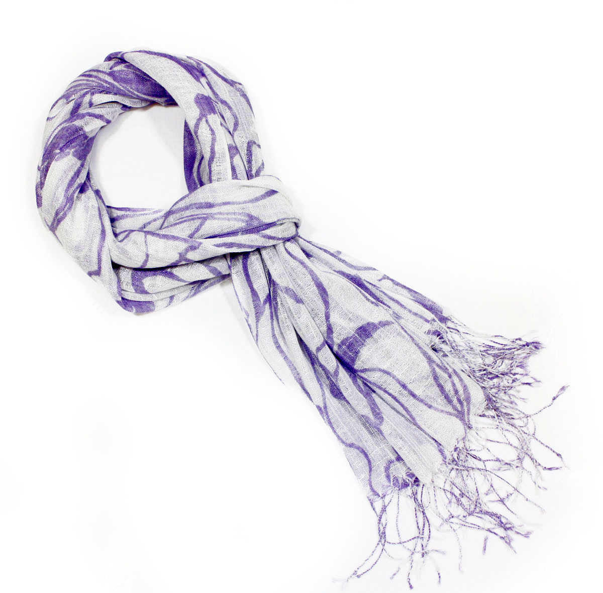 lilac Vines Fashion Viscose Scarf