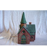 Ceramic Lighted Christmas Village Church - $8.00