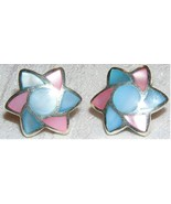 Sterling Silver Multicolor Mother of Pearl Star... - $10.00