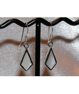 White Mother of Pearl inlay and Sterling Silve... - $7.00