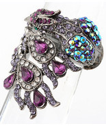 Peacock Purple Royal Blue Aurora Borealis Stretch Ring