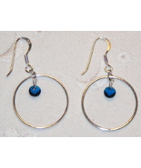 Crystal and Sterling Silver Earrings - $7.00