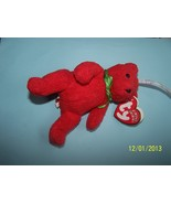 Ty Baby Beanie Mistletoe Red Bear Happy Holiday... - $2.50