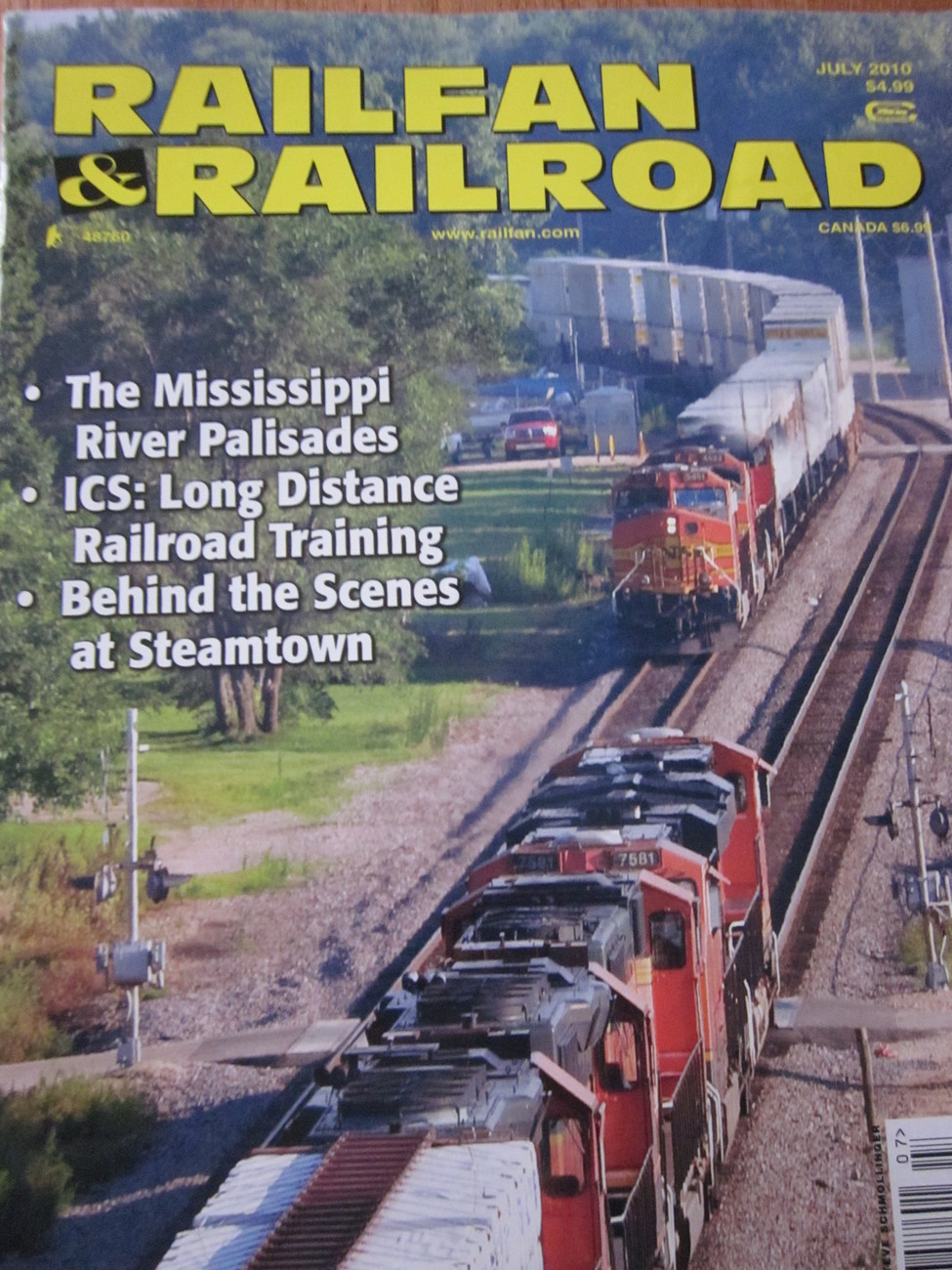 Railfan & Railroad Magazine Back Issue July 2010