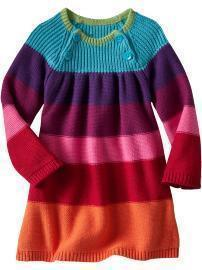 NWOT Baby Gap Crazy Stripe Sweater Dress 12-18 Months ADORABLE