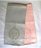 Pair Vintage Madeira Tea towels Organdy Linen A... - $30.00
